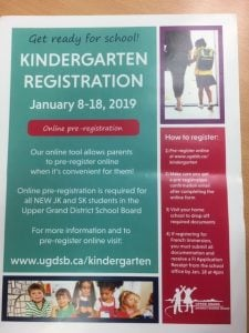 Kindy Registration Poster