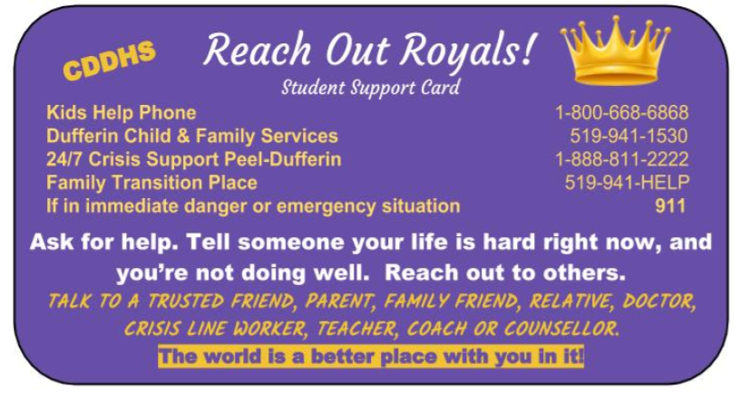 Reach Out Royals Student Supports