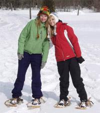 snow shoe practice