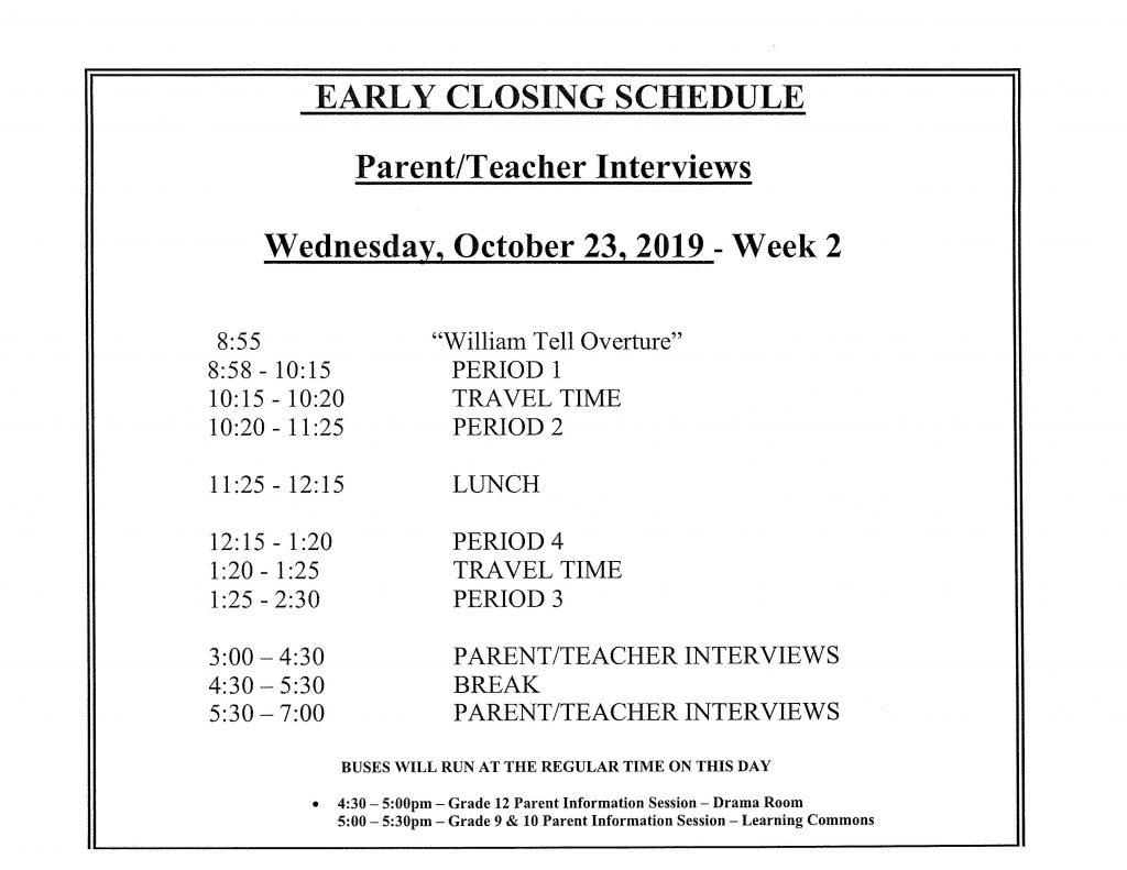Revised PT Interview Schedule