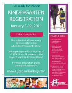 Kindergarten Registration 2021 22 Poster