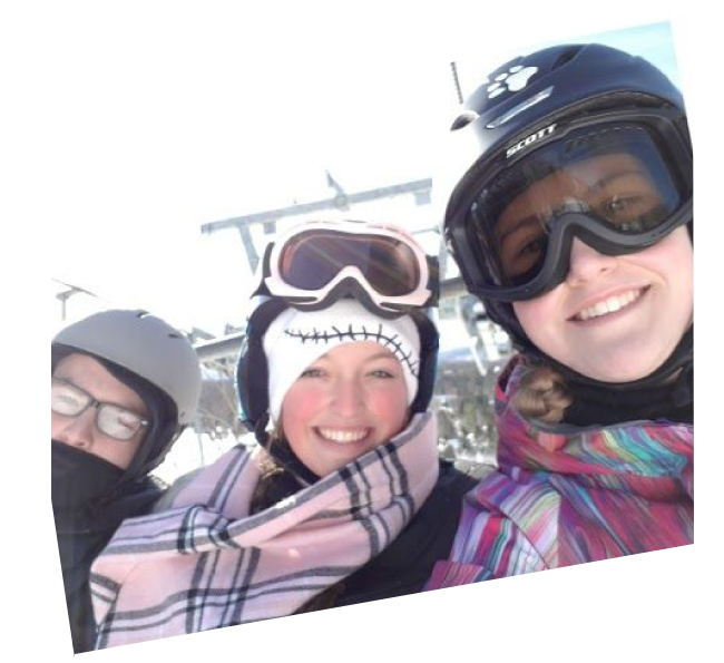Three French Immersion students in St. Donat