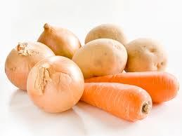 Carrots, Potatoes, Onions