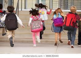 Children Arriving To School