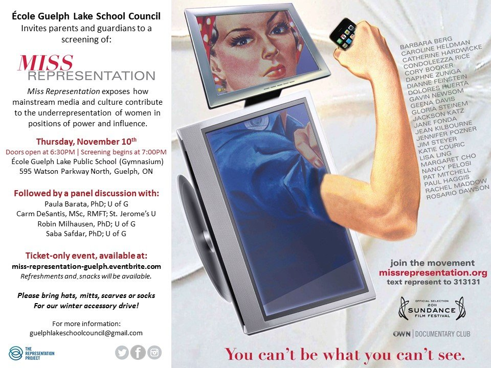 Miss Representation - Ecole Guelph Lake