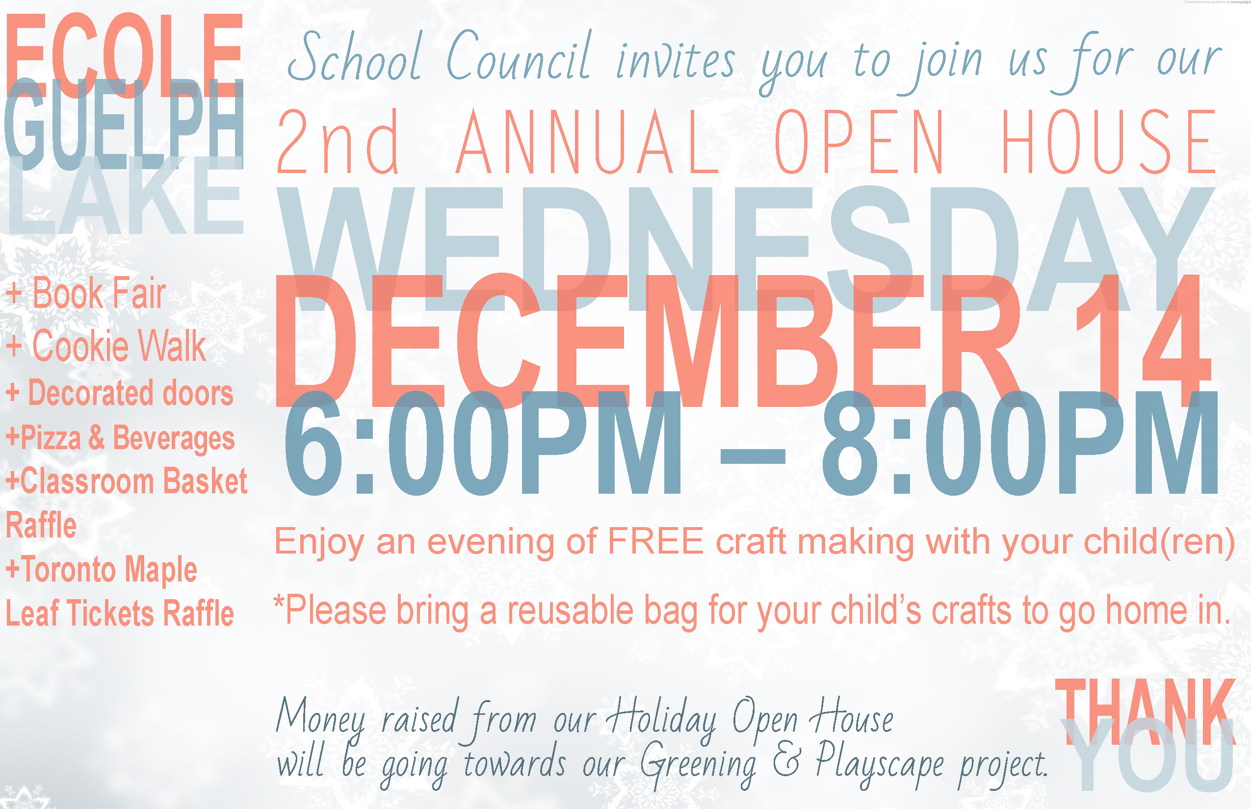 Holiday Open House 2016 - Flyer
