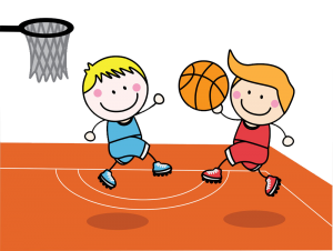 A Boy Playing Basketball Clipart 6
