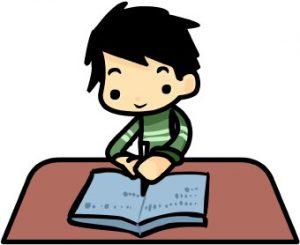 Boy Writing Test