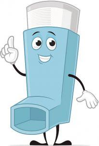 Asthma Inhaler Cartoon Character