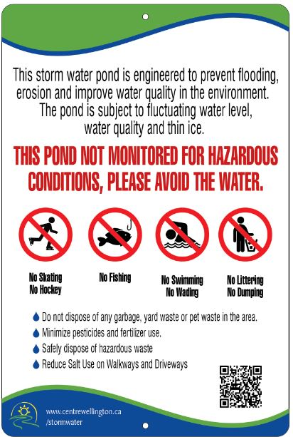 Stormwater Ponds Sign