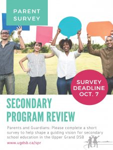 Secondary Program Review Flyer