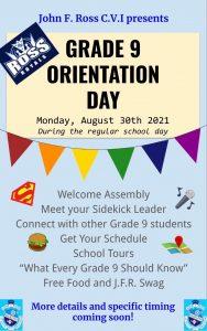 Grade 9 Orientation Flyer