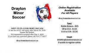 Drayton Soccer Ad February 2020