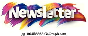 Newsletter Sign With Colorful Brush Eps Illustration_gg106458868