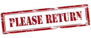 Please Return Rubber Stamp Text Inside Illustration 82273590
