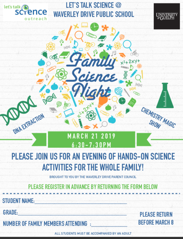 Family Science Night Flyer