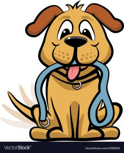 Dog Waiting To Walk Clipart Vector 11958061