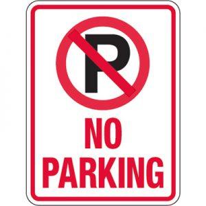 Pavement Message Signs No Parking 3474d Lg
