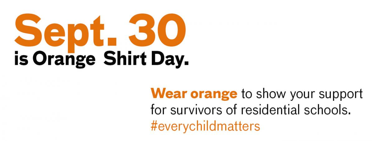 Sept 30 Orange Shirt Day
