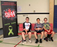 John Galt Public School unveiled its new buddy bench on June 15, 2017, at the school. The buddy bench was funded by Get in Touch with Hutch along with the Nicholas Lambden Foundation.