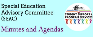 Special Education Advisory Committee Minutes and Agenda