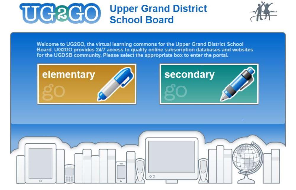 UG2GO welcome page