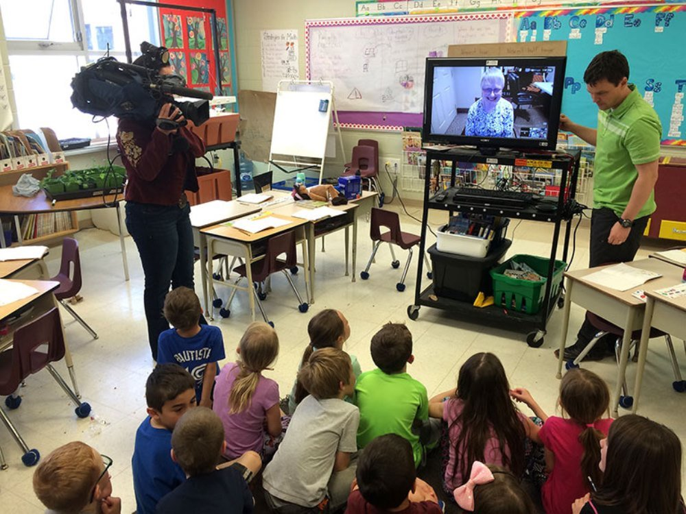 Grandpals program featured on City News
