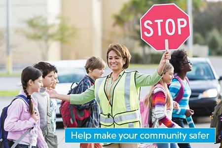 Become a school crossing guard and help make your community safer for children