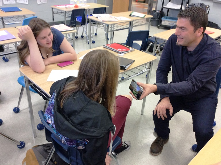 France Teacher William Grollet Shares Photos With EDHS Students