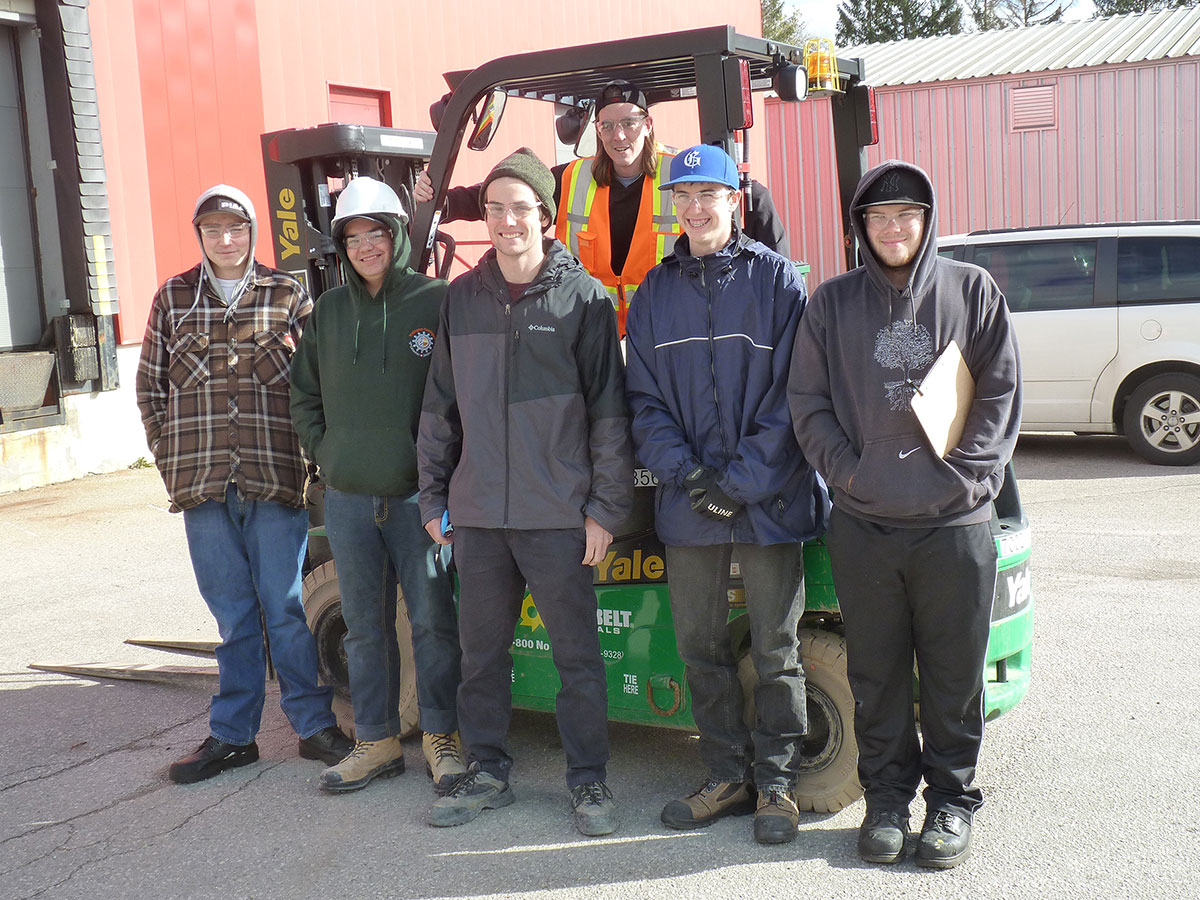 Students at CHSS who are enrolled in the Manufacturing SHSM program completed forklift training in November 2017.