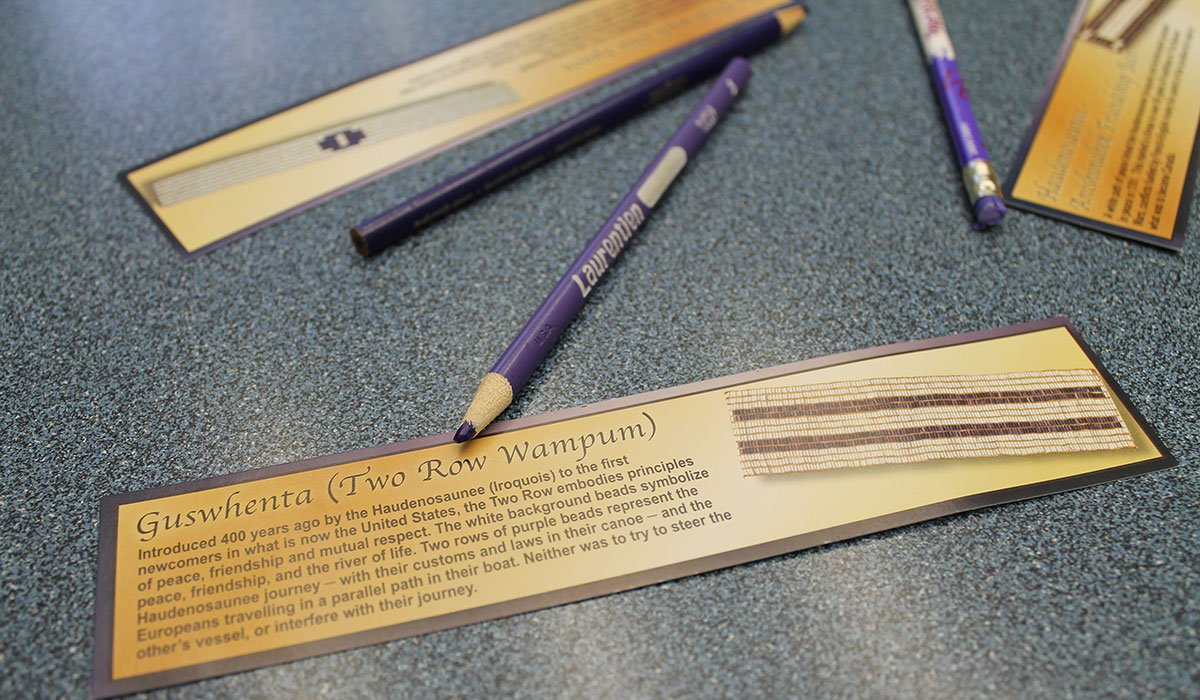 Students in the UGDSB are learning about the importance of the Two Row Wampum belt.