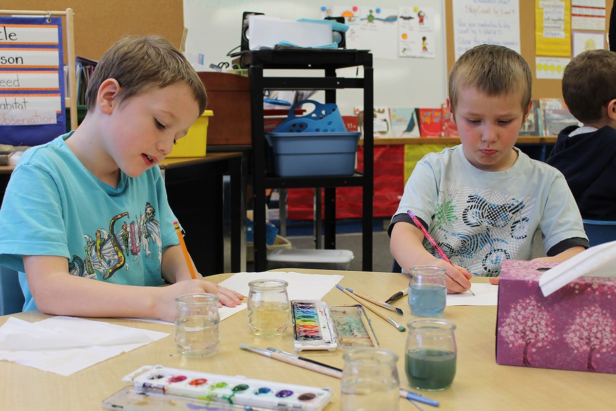 Grade 1/2 students at Victory PS are participating in the Water Friendship Project. December 2017.