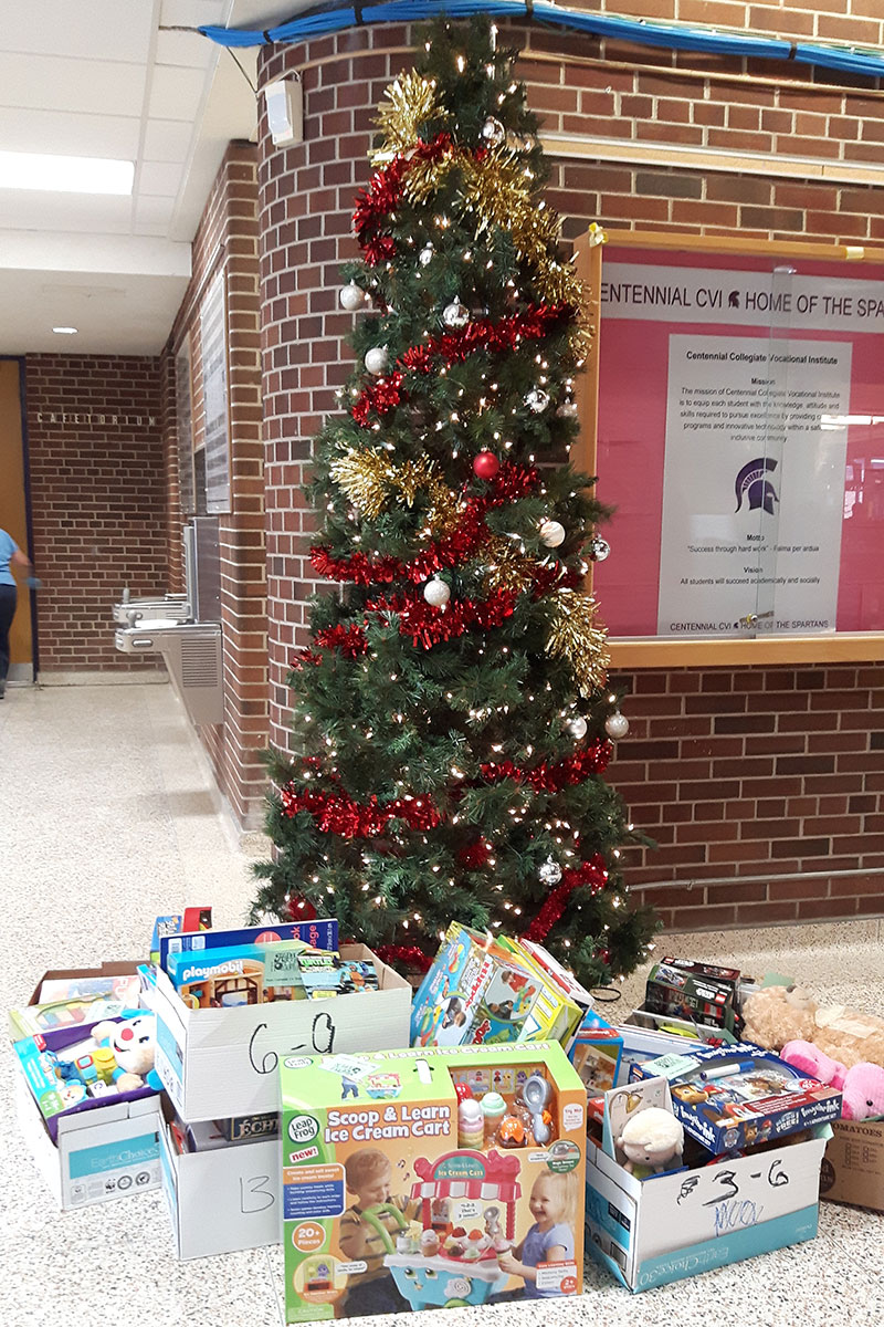 CCVI collected more than 100 gifts for the children at Grand River Hospital.
