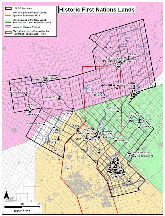 UGDSB Territory Map Screenshot