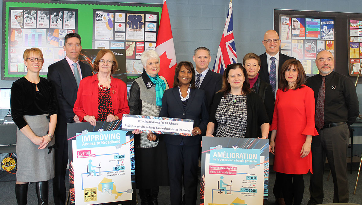 On Feb. 14, 2018, Education Minister Naidoo-Harris was in Guelph, along with MPP Liz Sandals and members of the UGDSB and WCDSB.