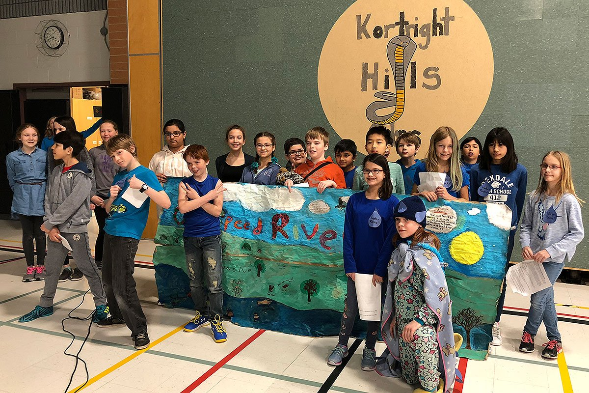 On Monday March 5, 2018, the grade 6 Water Rockers at Kortright Hills Public School held a water celebration assembly.