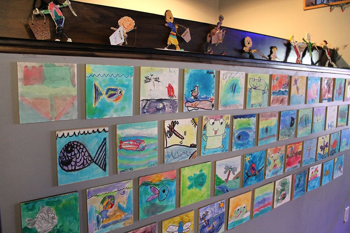 Student art on display at the Water Celebration held on March 22, 2018.