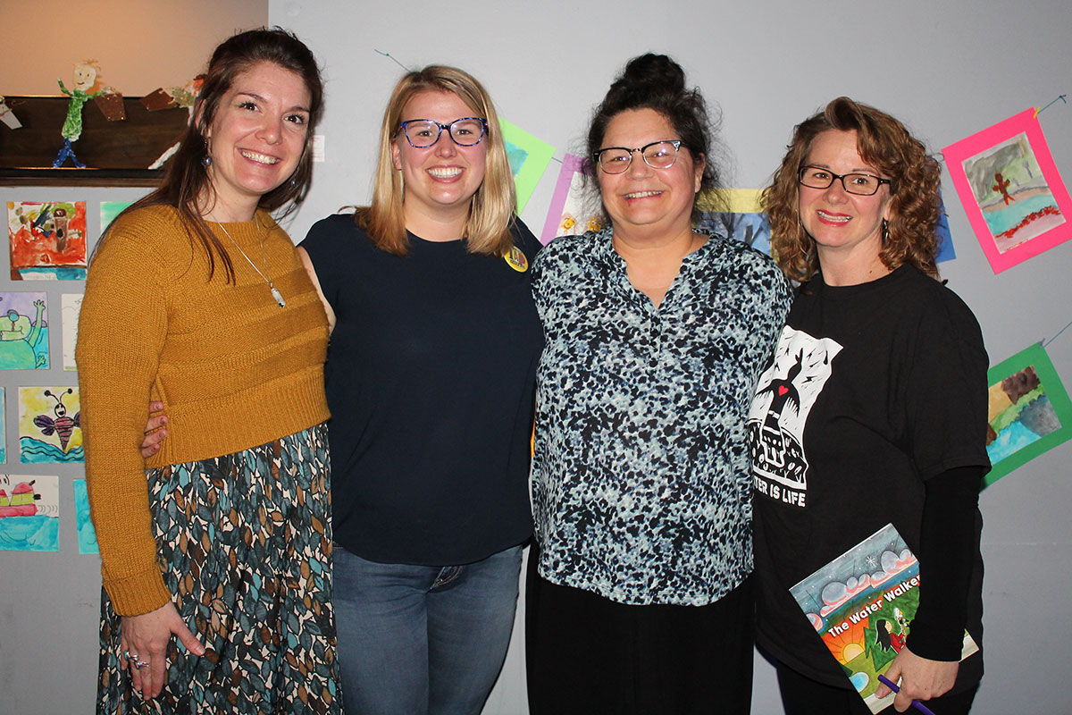 L-R: Victory PS teachers Amy Drumm and Olivia Vaughan, author Joanne Robertson and teacher Monique Cadieux.