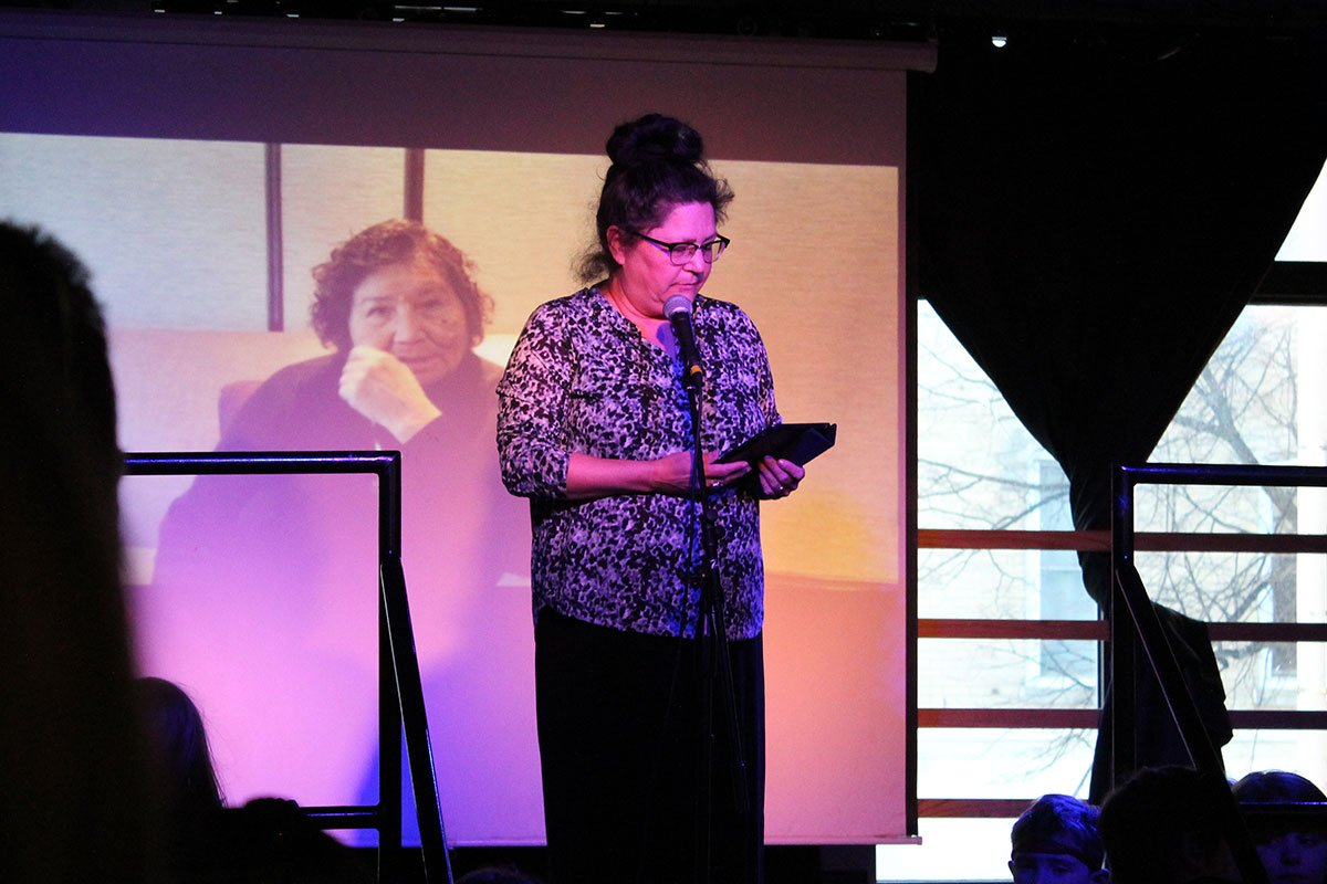 Author Joanne Robertson pictured on March 22, 2018, at the Water Celebration held at the Bookshelf eBar.
