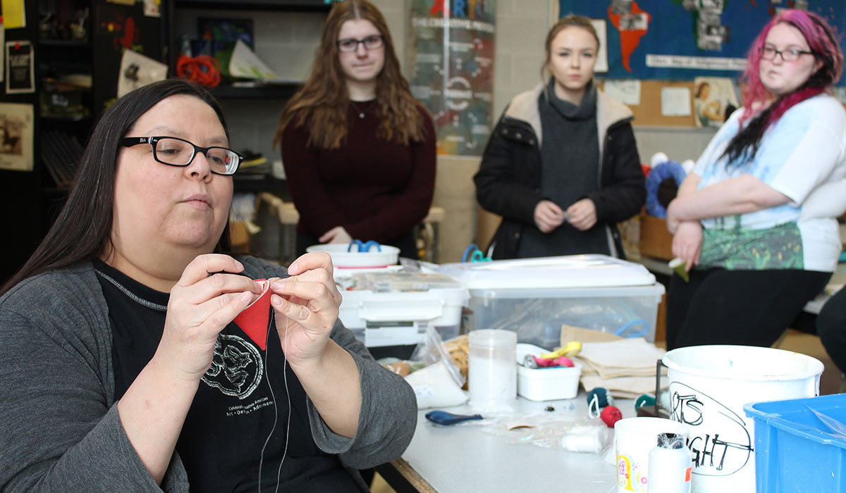 From March 19-23, 2018, artist Naomi Smith led Westside SS students through a series of Indigenous art workshops.