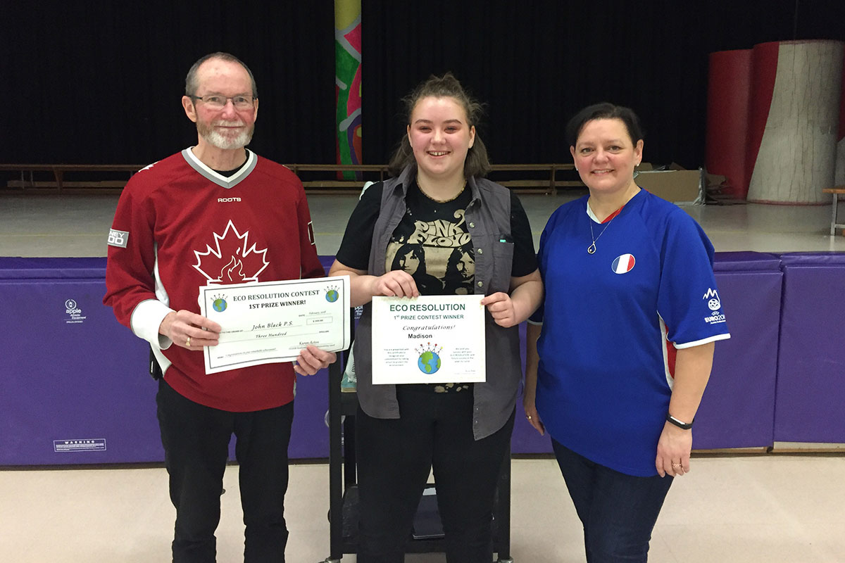 John Black PS student Madison is a 2018 Eco Resolution winner.
