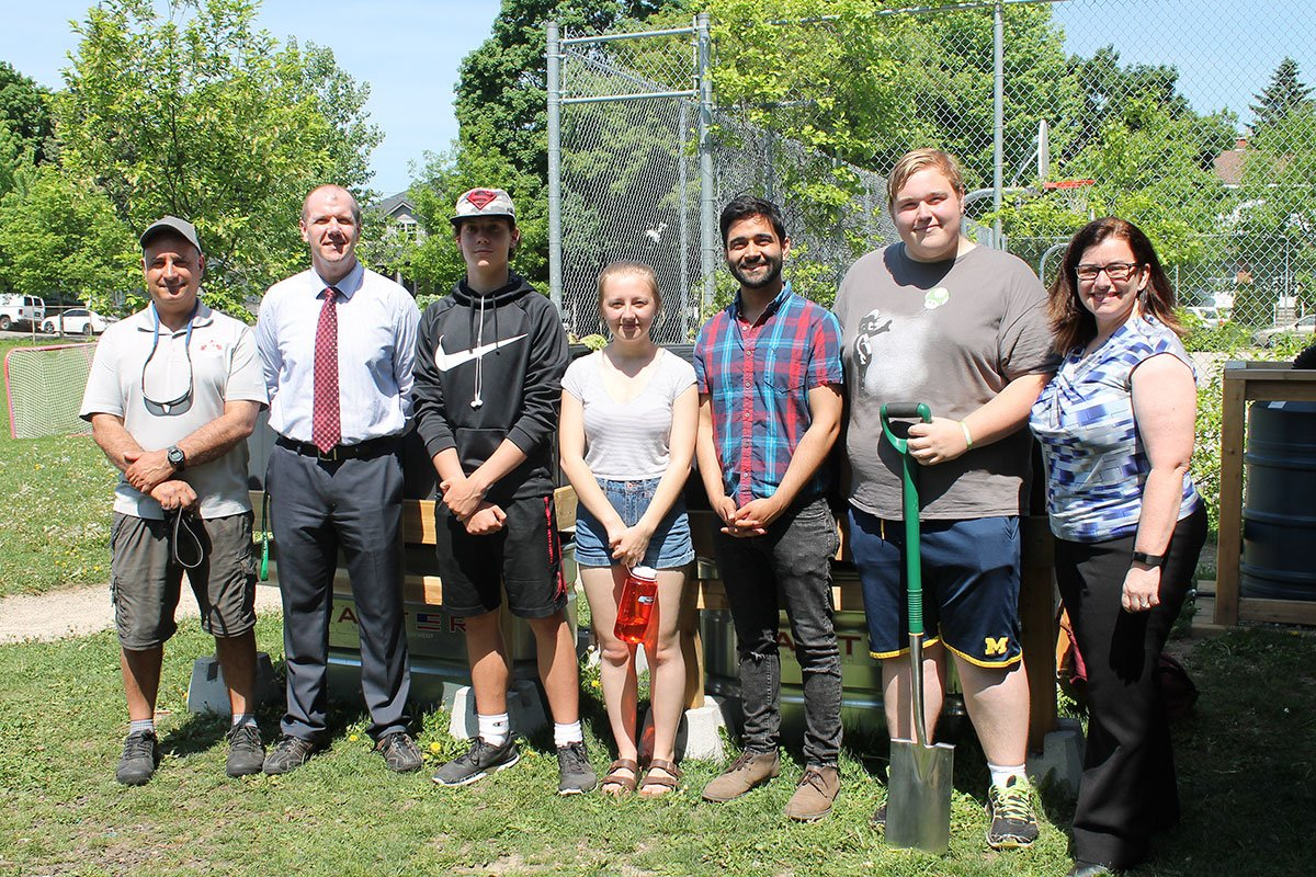 On May 28, 2018, GCVI staff, students and guests celebrated the latest upgrades to the school's outdoor classroom.