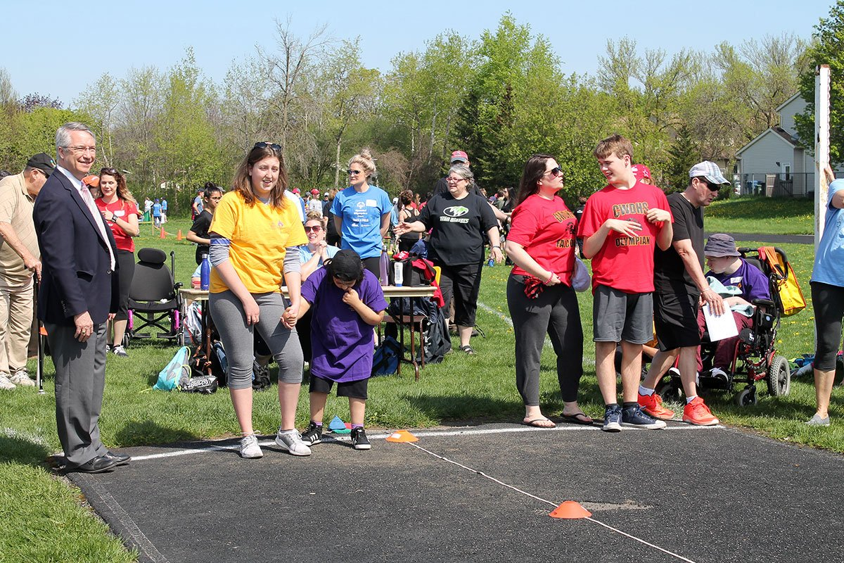 Special Olympics Track and Field Day was held on May 16, 2018.