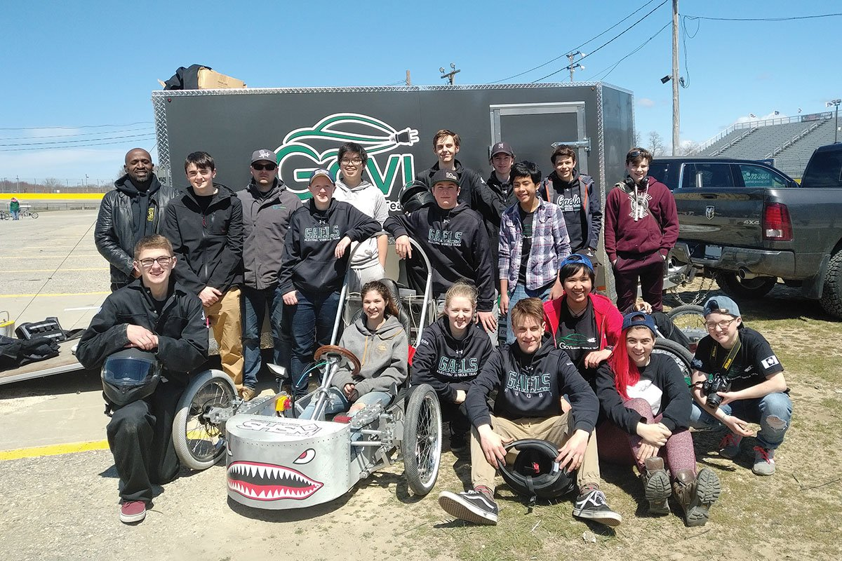 On April 27, 2018, students from GCVI raced their electric vehicle at the NECA racing series in Michigan.