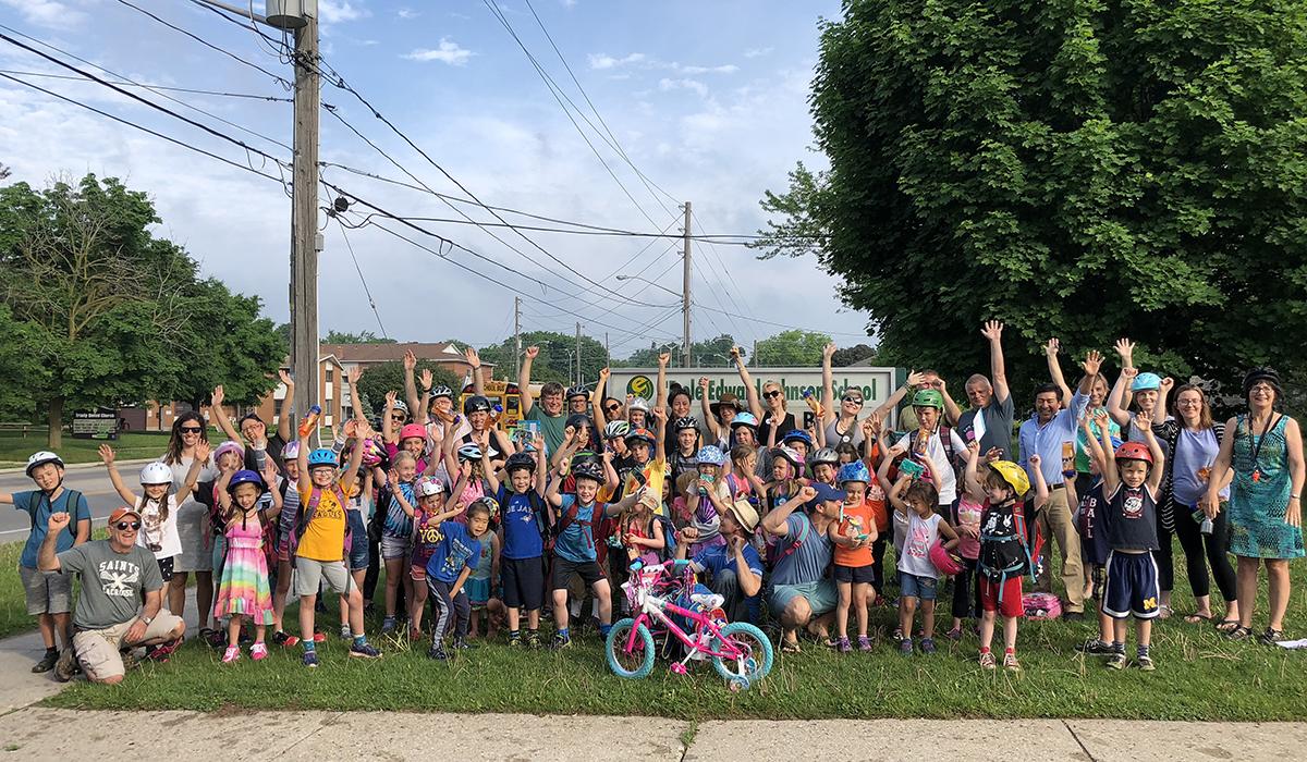 On June 1, 2018, Edward Johnson Public School held a Bike to School event.