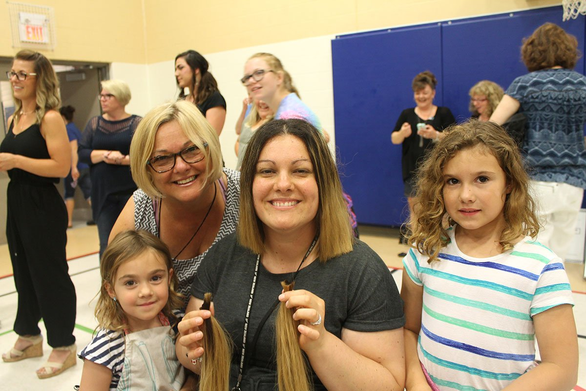 On June 1, 2018, staff and students at Glenbrook ES donated their hair at the annual Glenbrook Gives event.