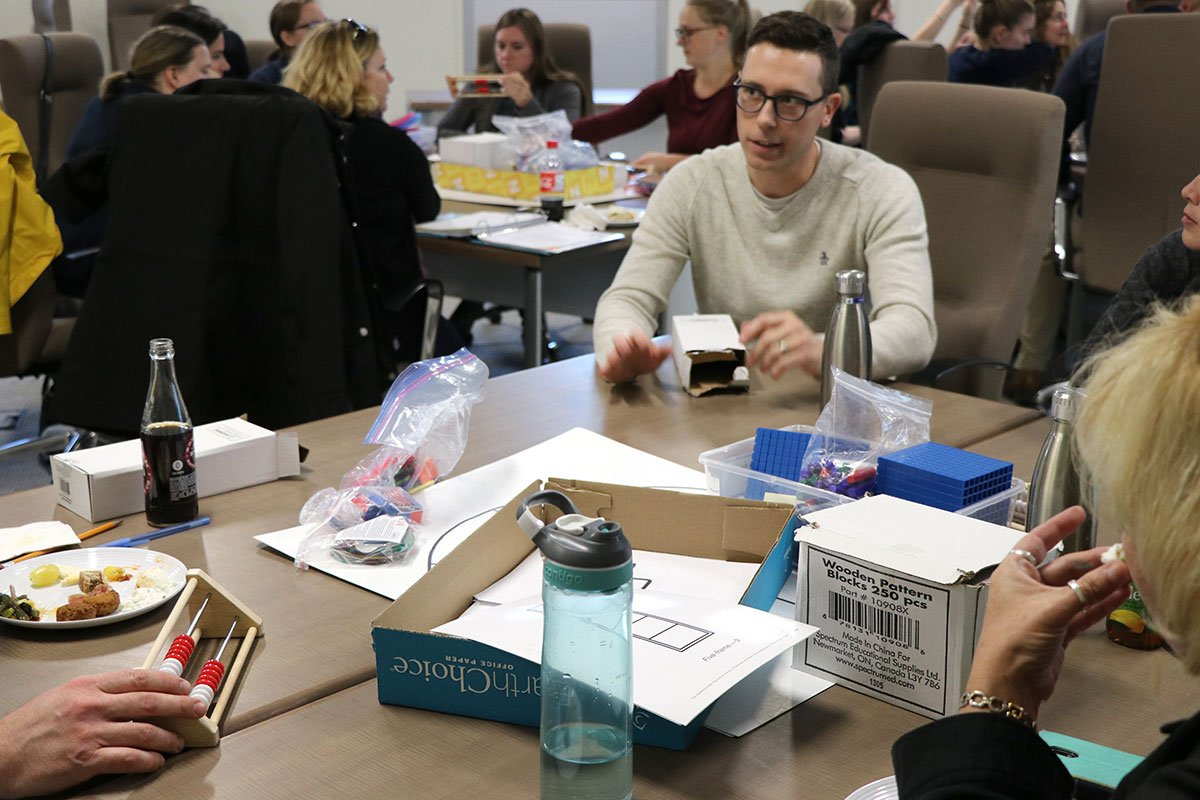 Upper Grand DSB math teachers are using concrete, hands-on tools in order to teach students mathematical concepts.