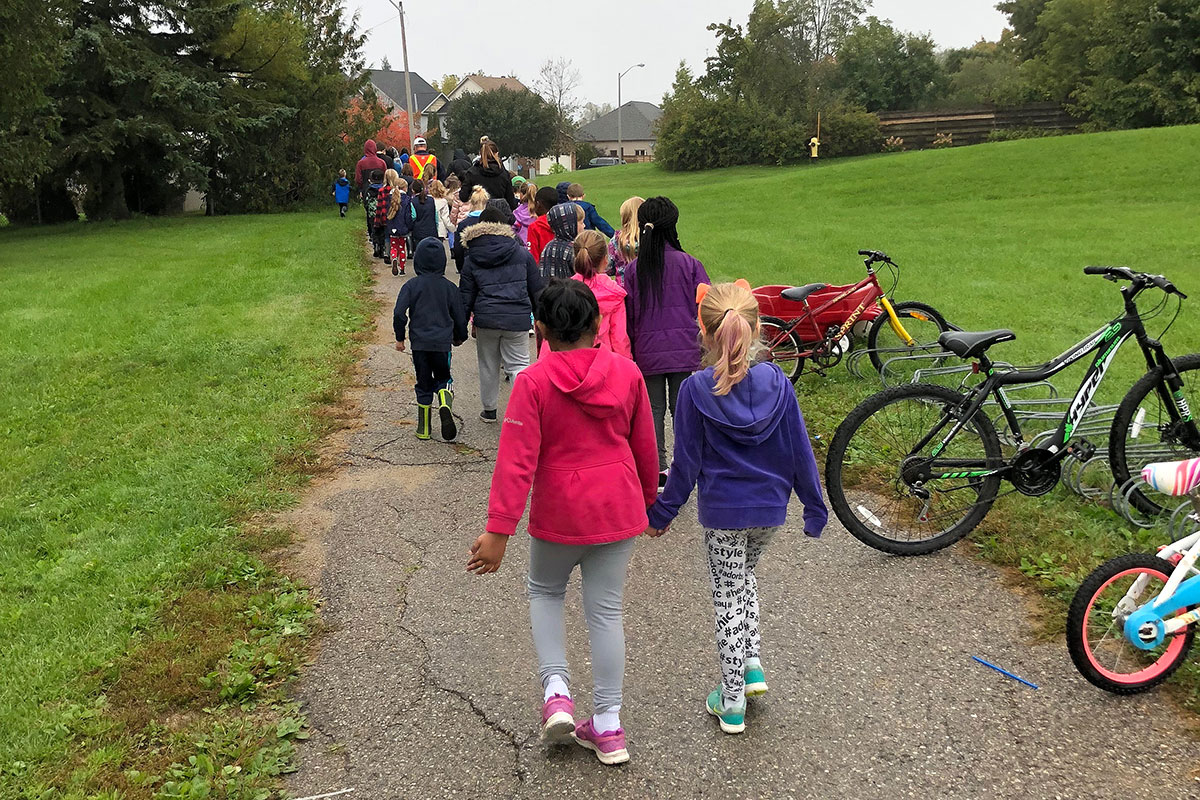 Walk to School Day 2018 at Centennial Hylands ES.