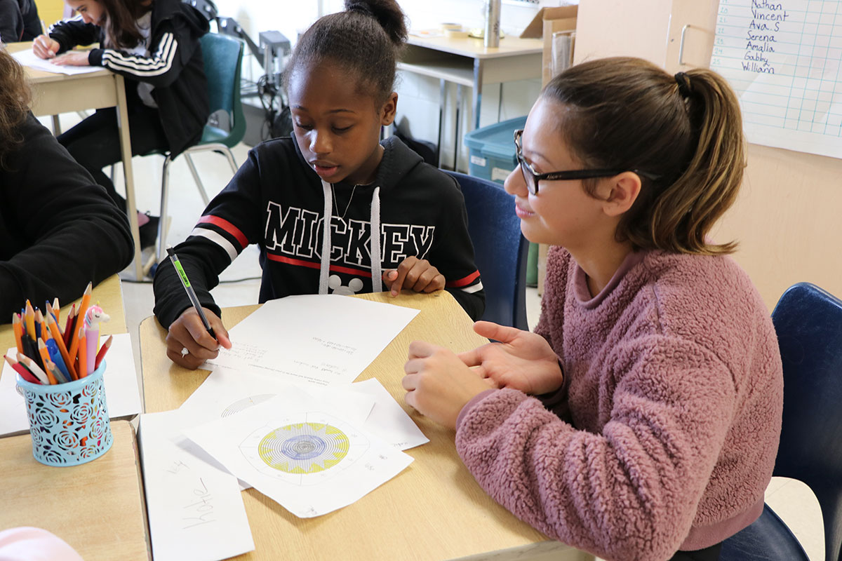 From Oct. 24 to Nov. 1, 2018, students at Island Lake Public School participated in a medallion making workshop with Indigenous artist Naomi Smith.