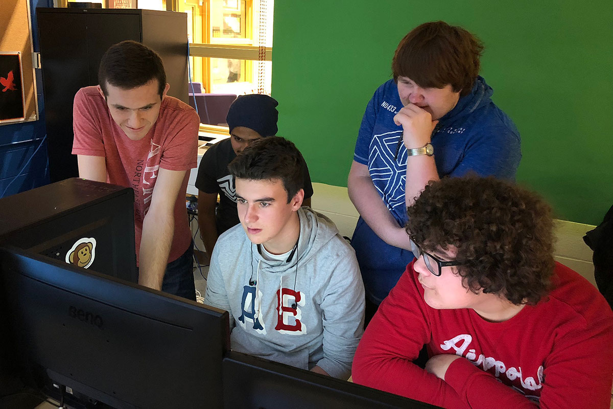 CWDHS students compete in CyberPatriot 2018.